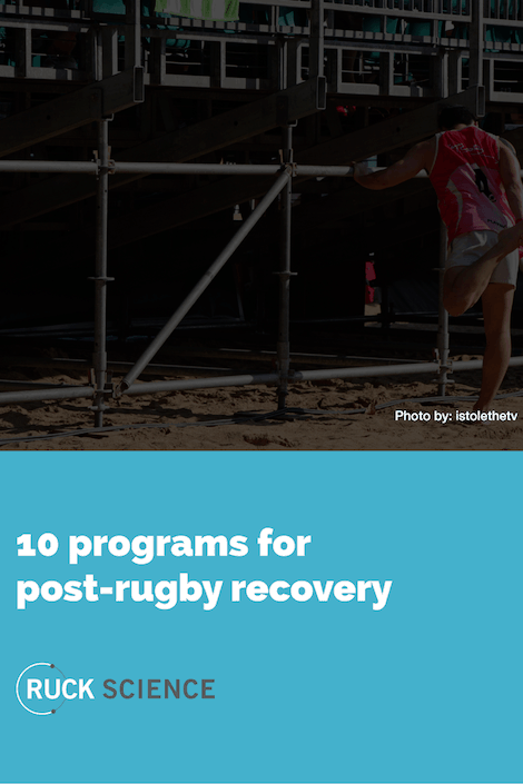 10 Programs for Post-Rugby Recovery