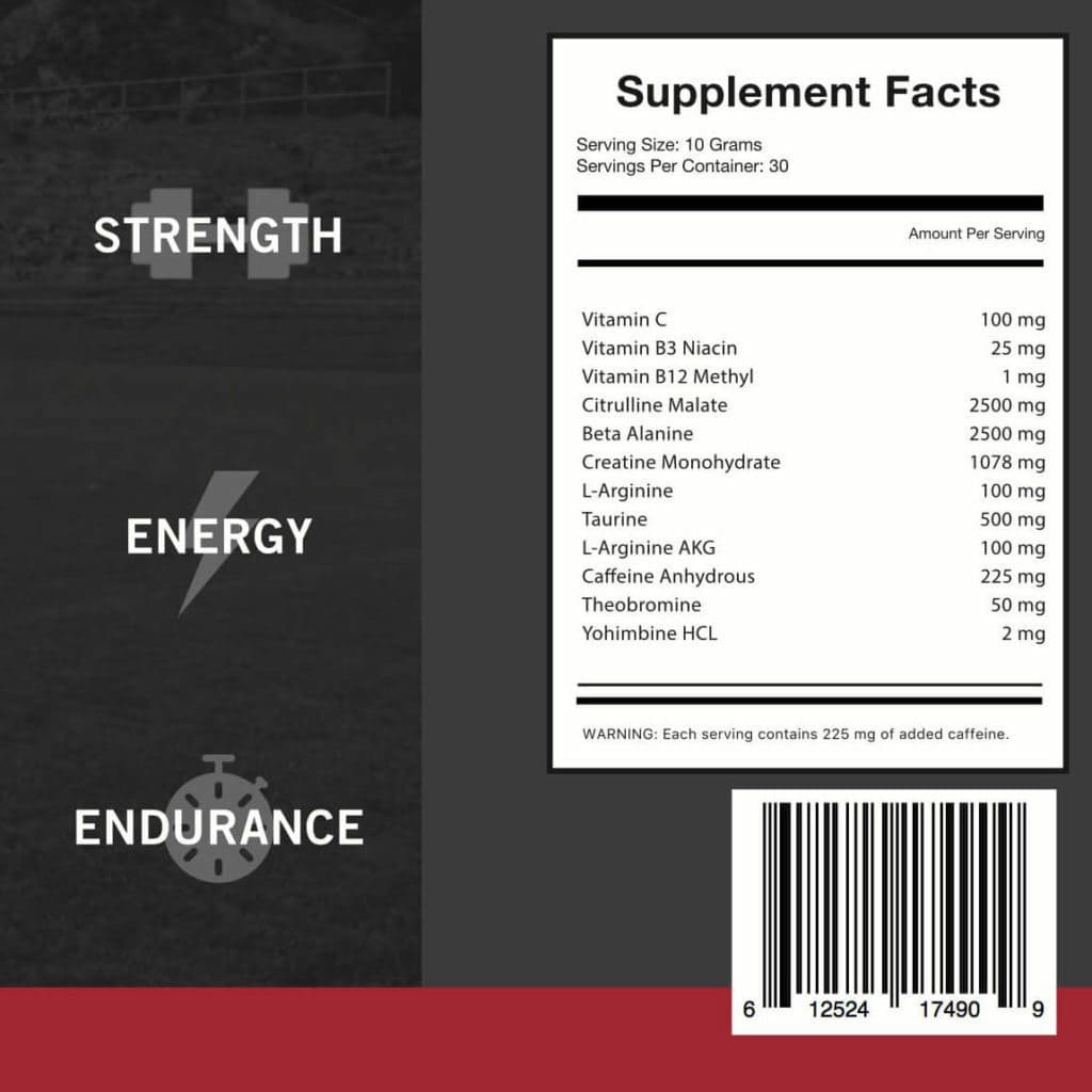 twitch faster supplement facts