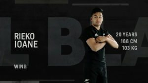 Rieko Ioane V Springboks rugby championship week 4 2017