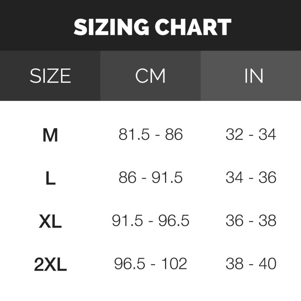 rugby shorts sizing chart