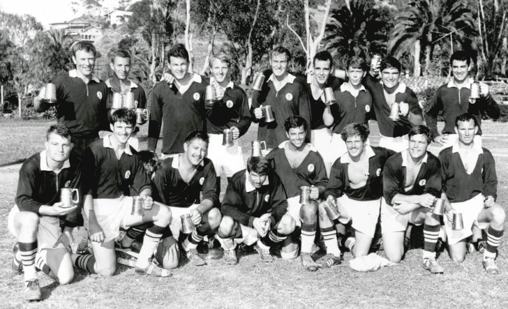 USCB rugby - 1970 squad.