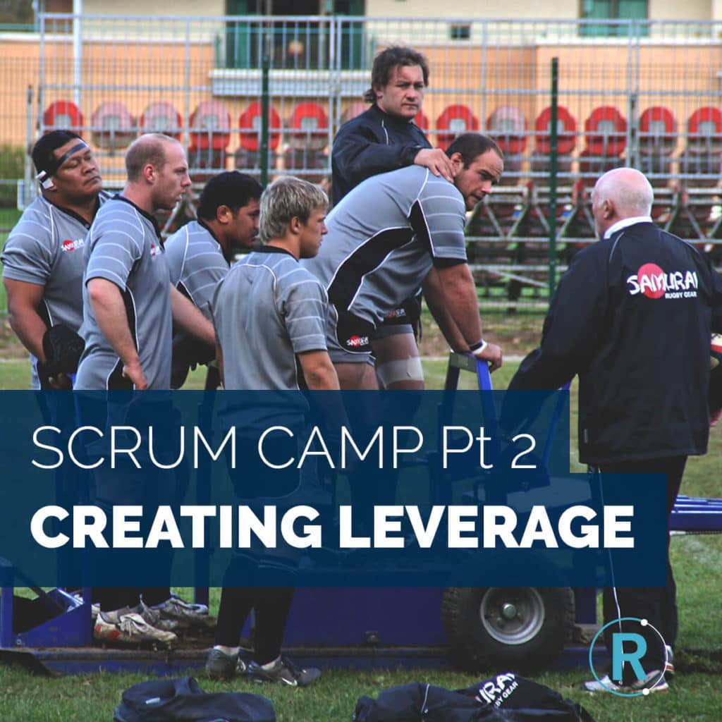 creating leverage in a rugby scrum